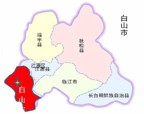 吉林省白山市地图
